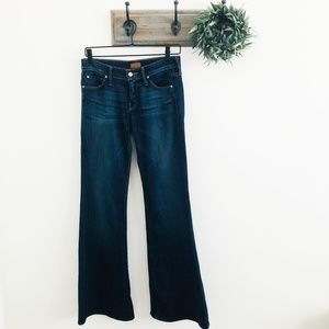 Mother Dark High Rise Flare Jeans 26